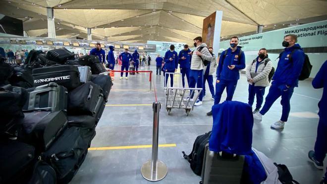 El Barça vio cómo se le retrasaba el vuelo hasta este sábado por la tarde