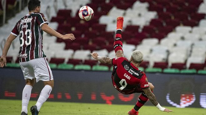 Gabigol marcó el gol del Flamengo en una final ida con alternativas