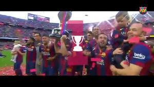 Los cinco títulos del FC Barcelona en 2015