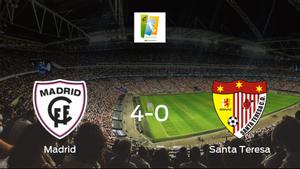 El Madrid CFF consigue los tres puntos en casa tras pasar por encima del Santa Teresa Badajoz (4-0)