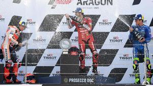 Bagnaia se lleva la victoria en Motorland Aragón