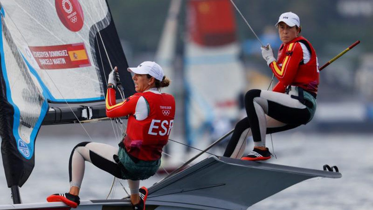 Echegoyen y Barceló optan a las medallas en 49er FX