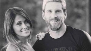 Antonela, junto a Leo Messi