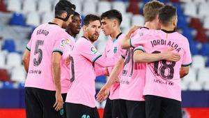 El 1x1 del Barça al descanso ante el Levante