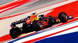 Verstappen, en acción en el circuito de Austin