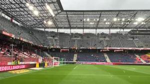 El ambiente del Red Bull Arena antes del encuentro