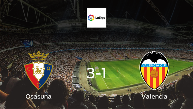 Travelling Valencia are humbled in a 3-1 defeat by Los Rojillos