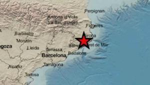 Un terremoto de 3,4 de magnitud se hace notar en Girona