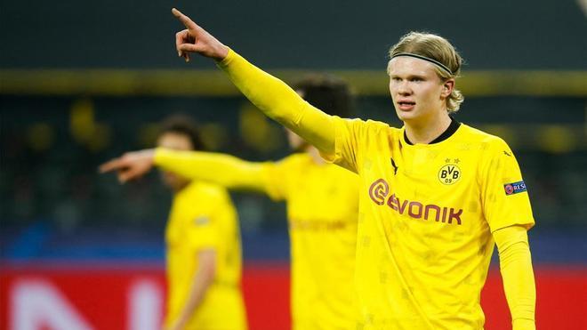 El doblete de Haaland que mete al Dortmund en cuartos