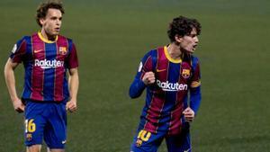 El golazo olímpico de Alex Collado en la victoria del Barça B