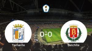 El Tamarite y el Belchite se reparten los puntos en un partido sin goles (0-0)