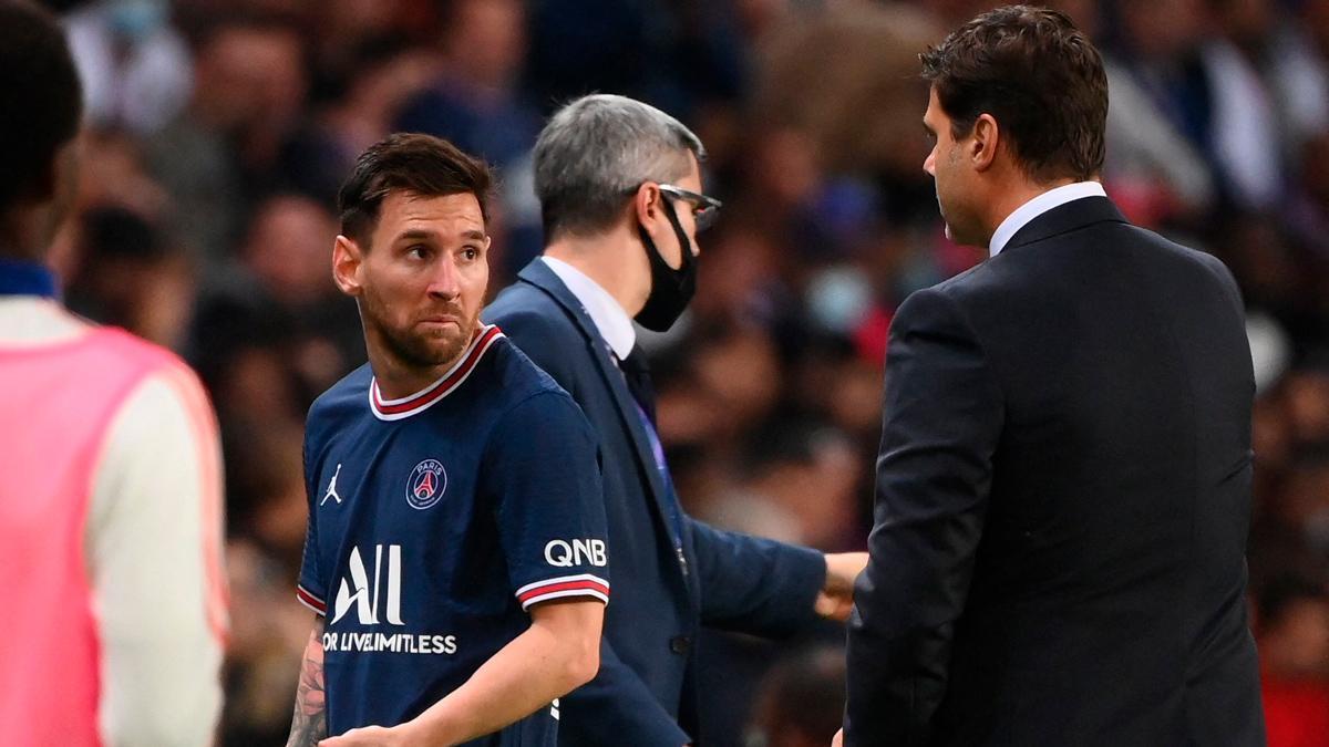La reacción de Leo Messi tras ser sustituido por sorpresa