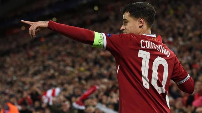 Philippe Coutinho está en racha goleadora a la espera del Barça