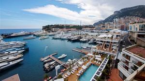 Vista panorámica del puerto de Mónaco