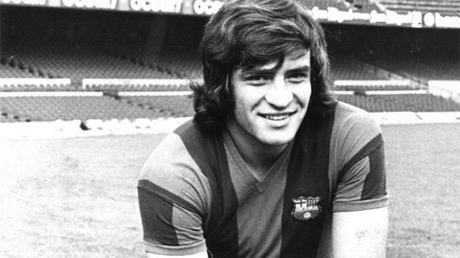 Heredia marcó el 2-0 en un derbi contra el Espanyol en 1975
