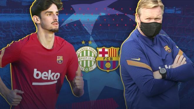 Ronald Koeman y Francisco Trincao atenderán a los medios en la previa del Ferencvaros-Barça