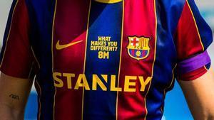 Las jugadoras del Barça lucieron un mensaje en la camiseta en homenaje al Día Internacional de la Mujer