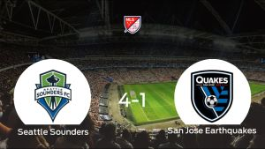 El Seattle Sounders se lleva el triunfo tras golear 4-1 al San Jose Earthquakes