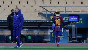 Leo Messi, expulsado de la Supercopa por un manotazo a Villalibre