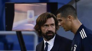 Andrea Pirlo, en una imagen de archivo junto a Cristiano Ronaldo