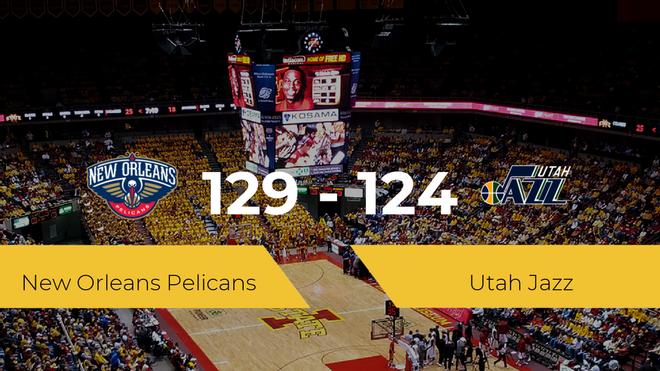 New Orleans Pelicans consigue la victoria frente a Utah Jazz por 129-124