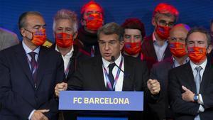 El discurso de la victoria de Laporta: Leo Messi quiere al Barça