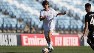 Julen Jon Guerrero, en un partido con el Juvenil del Real Madrid