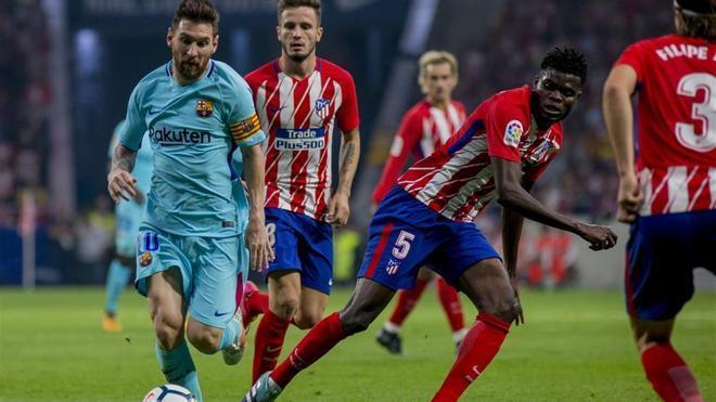 El Atlético - Barça de la primera vuelta acabó con empate a uno