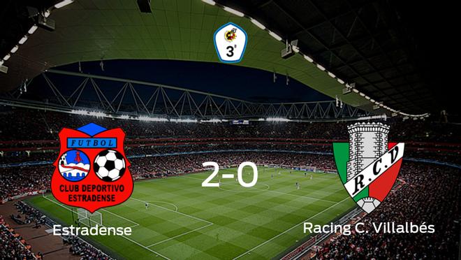 El CD Estradense consigue los tres puntos ante el Racing C. Villalbés (2-0)