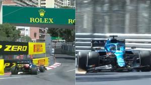 Alonso dio el primer susto en el GP de Mónaco