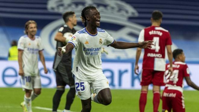 Camavinga, eufórico tras su gol