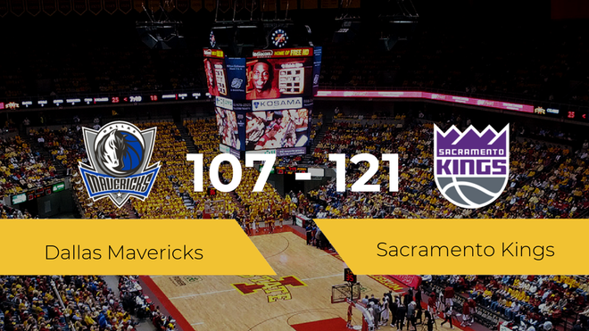 Sacramento Kings consigue vencer a Dallas Mavericks (107-121)