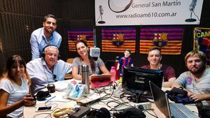 La PB Nicolau Casaus fue la primera en tener un programa de radio propio en Argentina, Radio Barça
