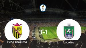 La Peña Azagresasuma tres puntos más frente al Lourdes (3-1)