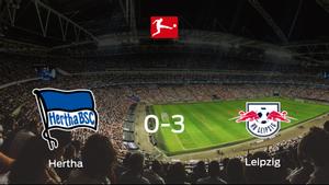 El RB Leipzig logra una goleada en el estadio del Hertha Berlín (0-3)