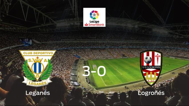 El Leganés suma tres puntos tras pasar por encima del Logroñés (3-0)