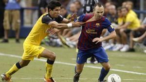 El FC Barcelona jugó en agosto de 2011, contra el América mexicano, su último partido en la International Champions Cup