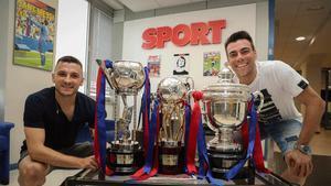 Sergio Lozano y Dyego visitan SPORT tras conquistar la Liga