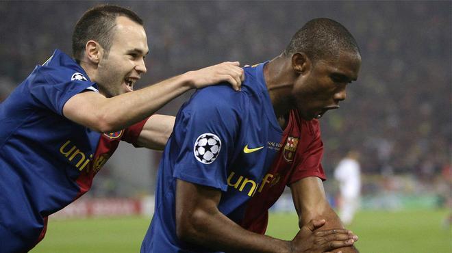 Etoo: Iniesta es el mejor futbolista con el que he jugado