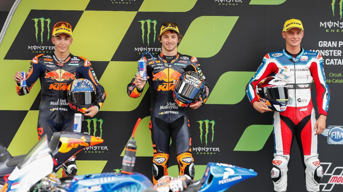 Remy Gardner, en el podio de Moto2