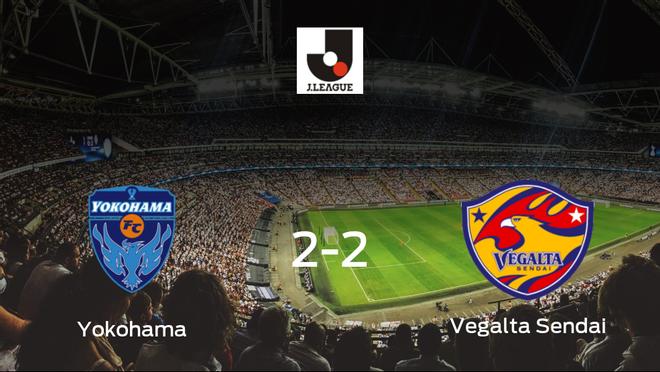 El Yokohama y el Vegalta Sendai reparten los puntos tras empatar a dos