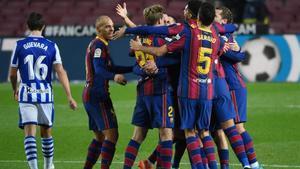El Barça ganó a la Real en el Camp Nou (2-1)