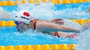 La nadadora china Zhang Yufei en Tokio 2020.