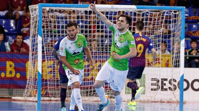 Mati Rosa, tras marcar en el Palau con Palma Futsal