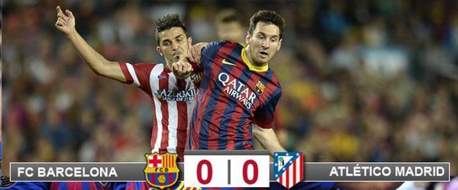 Messi y Villa no vieron puerta