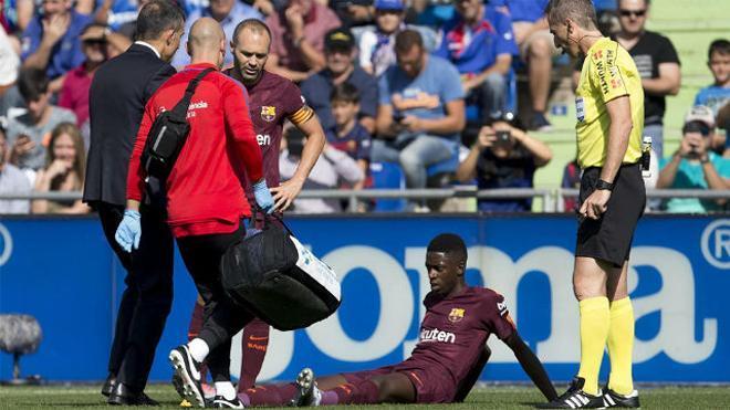 LALIGA | Getafe-Barça (1-2): La lesión de Dembélé
