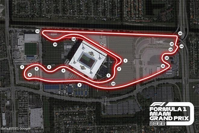El GP de Miami formará parte de la F1 en 2022