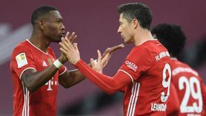 Alaba y Lewandowski, durante un partido del Bayern de Múnich