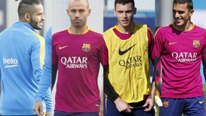 Douglas, Mascherano, Vermaelen y Masip no tienen totalmente definido su futuro en el Barça 2016/17