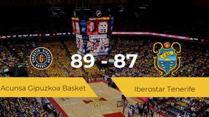 El Acunsa Gipuzkoa Basket se lleva la victoria frente al Iberostar Tenerife por 89-87